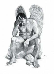 Pensive angel,150cm x 240cm