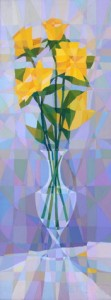 Yellow roses, 35cm x 50cm arcylic on canvas