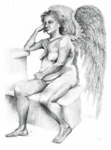 Aged angel,260cm x 150cm