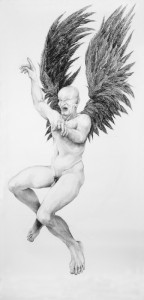Raged angel,150cm x 310cm