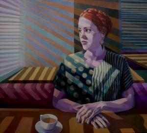 Modern Karyatis, acrylic on canvas, 100x110cm
