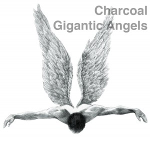 Charcoal gigantic angels