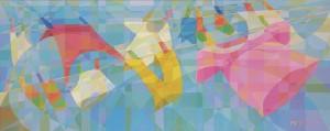Love is..., acrylic on canvas, 85cm x 187cm
