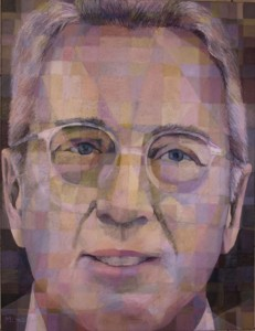 Portrait of Hans Otto Nagel, acrylics, mixed media on canvas, 130x100cm