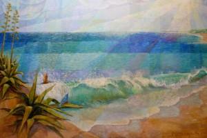Thalassa, 210cm x 140cm, acrylic in canvas