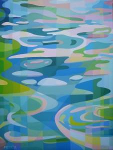 Kefalonian blue No1, acrylic on canvas, 60x80cm