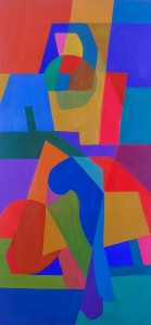Seeting woman,210cm x 100cm oil on canvas