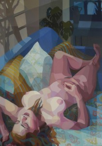 Moon Bathing, acrylic on canvas, 70x100cm